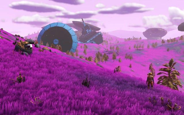 I giocatori di No Man's Sky stanno avvistando l'erba rosa e sono entusiasti