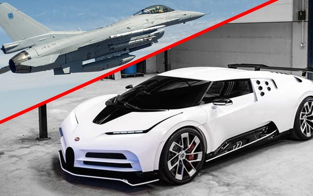 このF-16戦闘機をより安く手に入れることができるのに、なぜブガッティセントディエチを購入するのですか?