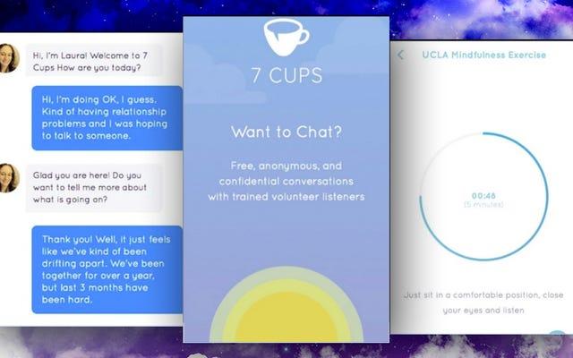7 Cups Menempatkan Pendengar yang Terlatih dan Latihan Perhatian di Ponsel Anda, Gratis