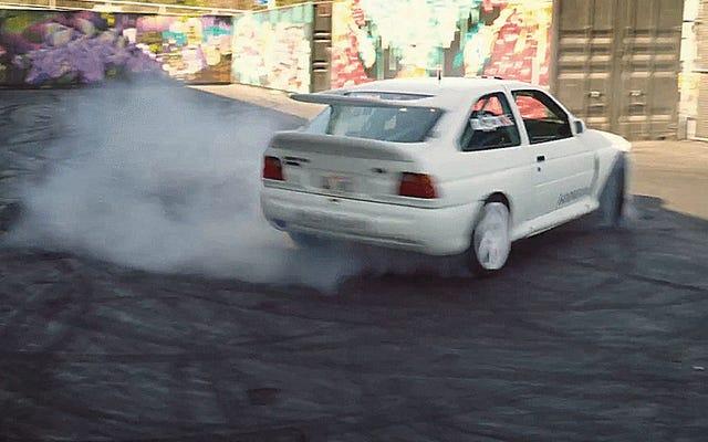 El nuevo auto de carreras de Ken Block es un auto de rally perfecto Ford Escort Cosworth Group A