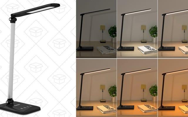 Estas asequibles lámparas de escritorio LED cuentan con temperatura de color ajustable