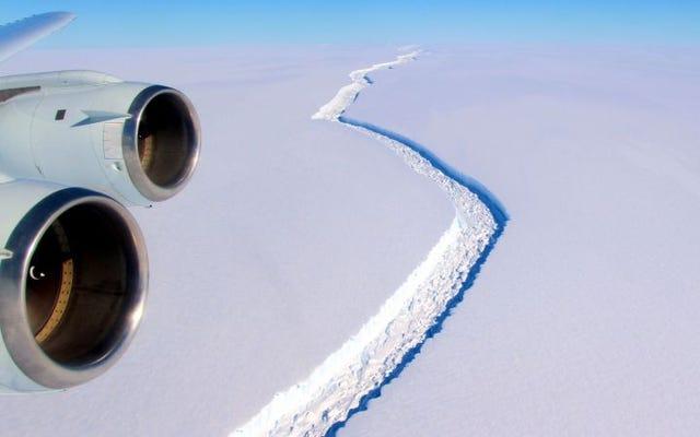 यह आधिकारिक है: लार्सन आइस शेल्फ़ ढह जाती है, जिससे लक्ज़मबर्ग के आकार से दोगुना हिमखंड निकलता है