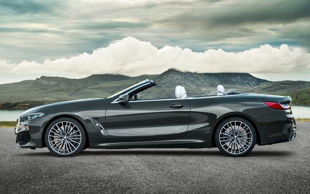2019 BMW8シリーズコンバーチブルは155MPHで首を非常に暖かく保ちます