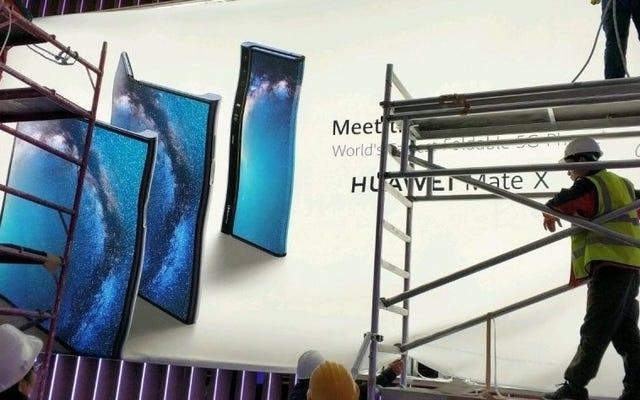 Nếu đây là điện thoại có thể gập lại của Huawei, bạn có thể chú ý đến tôi