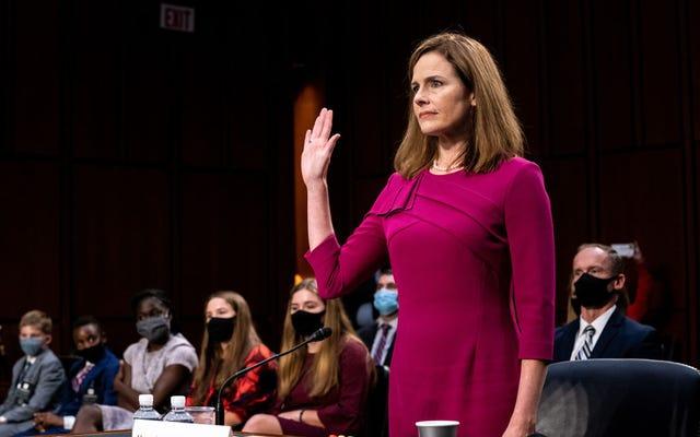 Amy Coney Barrett, juez del Senado republicano Ike Turner, a la Corte Suprema, obligando a Estados Unidos a comerse el maldito pastel