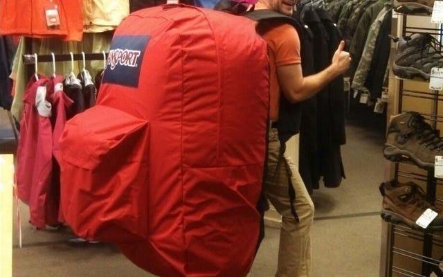 Types de personnes qui voyagent, classés par bagage à main