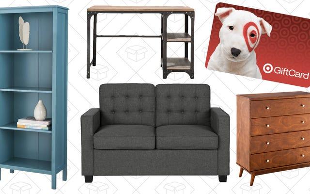 ターゲットで寝具や家具などに150ドルを費やし、40ドルのギフトカードを入手する