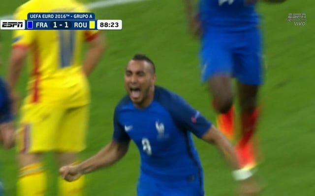 ディミトリ・ペイエが後半の試合で勝利した目標でフランスのお尻を救う