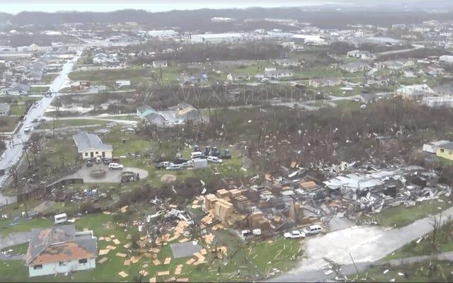 ハリケーンドリアンがバハマを通過した後の恐ろしい破壊、ビデオ