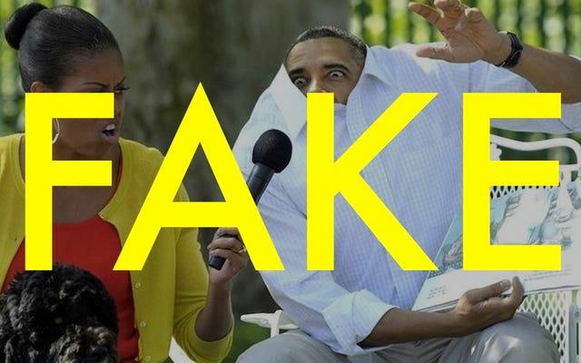 彼のシャツを着たオバマ大統領のこの写真は完全に偽物です