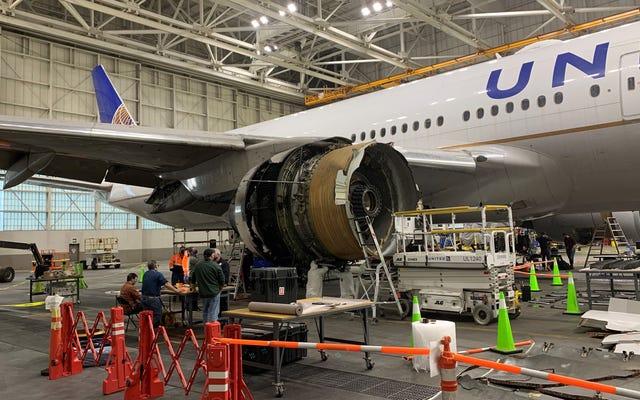 そのボーイング777エンジンの故障は、実際に飛行機の胴体に穴を開けました