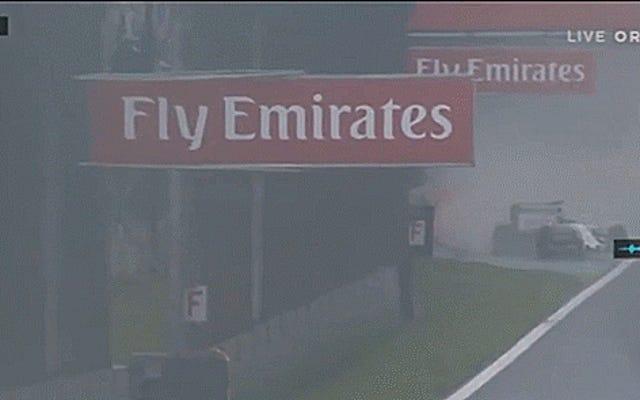 ブラジル人F1ドライバーのフェリペマッサの最後のホームレースは悲痛なクラッシュで終わる