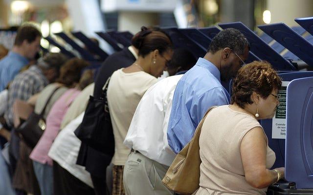 संघीय न्यायाधीश जॉर्जिया कानून को जारी रखने की अनुमति देता है मतदाता पर्स