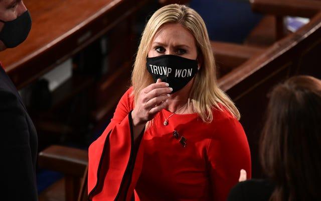 マージョリー・テイラー・グリーン議員は、民主党の同僚の暴力的な死を支持しています。共和党は厳しい話し合いを提案する