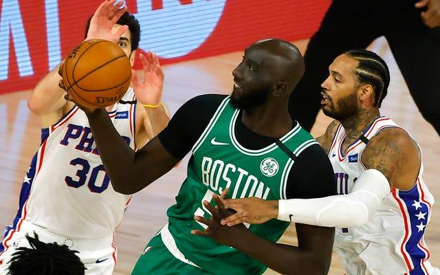 Fa schifo che sia dovuto a COVID, ma i Celtics ora devono dare alle persone quello che vogliono: un Tacko gigante!