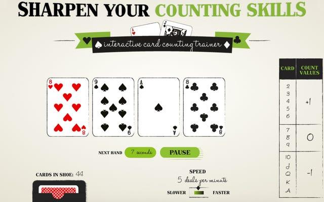 このウェブサイトはMIT数学の天才のようにカードを数えることをあなたに教えることができます