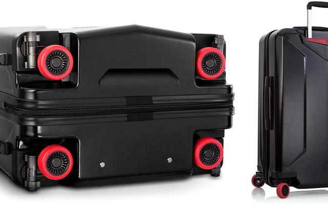 La primera maleta con ruedas que se retraen para que no se destruyan