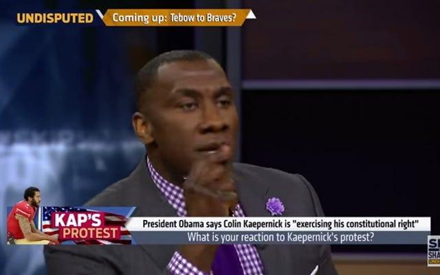 ウォッチ:NFLコメンテーターのシャノンシャープがホワイトフォークスに「何を悲しむべきか教えてはいけない」と言う