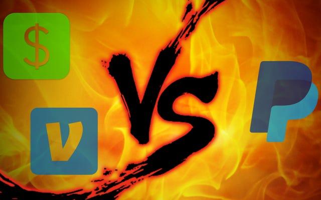 送金の対決:Square Cash vs. Venmo vs. PayPal