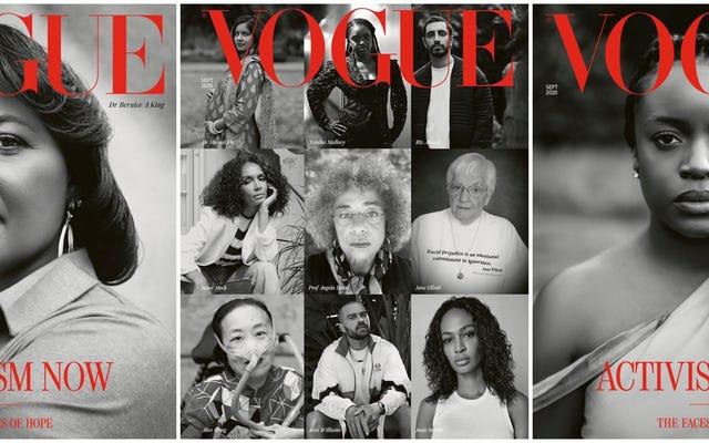 今のアクティビズム:英国のヴォーグの9月号は、いくつかの黒人のアメリカ人の英雄を主演させ、そして希望のメッセージ