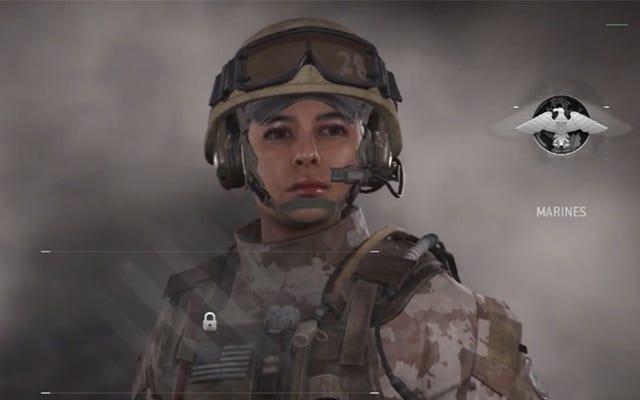 現代の戦争は今女性兵士を持っています