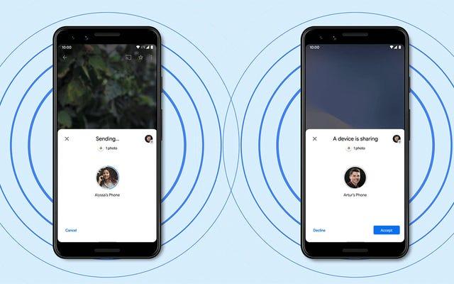 कैसे Android के पास शेयर Apple के AirDrop की तुलना में है