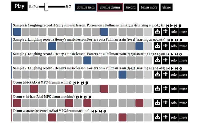 米国議会図書館の「CitizenBeats」Webアプリでドラムループを作成する