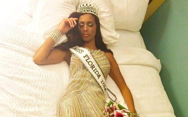 ミスフロリダUSAが彼女の王冠を持つことができないならば、彼女は1500万ドルを望んでいます