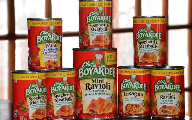 ポイント/対位法:缶詰のパスタは実行可能な前菜ですか?