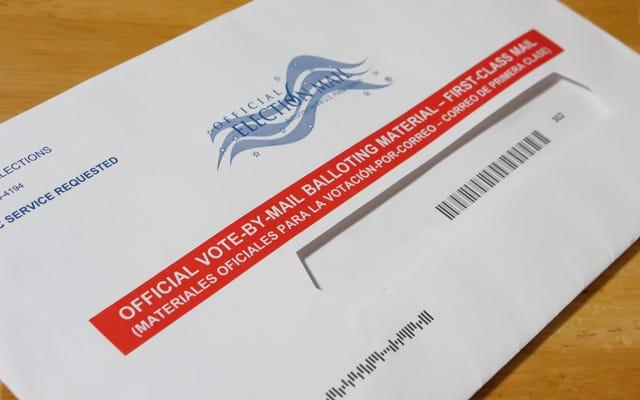 Вы можете отправить свой бюллетень по почте без использования USPS