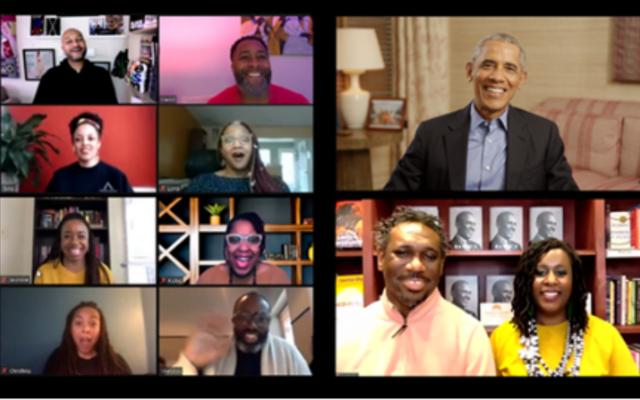 Итак ... Президент Обама явился на последнюю встречу Книжного клуба Brothas x MahoganyBooks. Вот что случилось