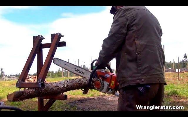 枝を簡単に切るためのモジュラー薪ホルダーを作る