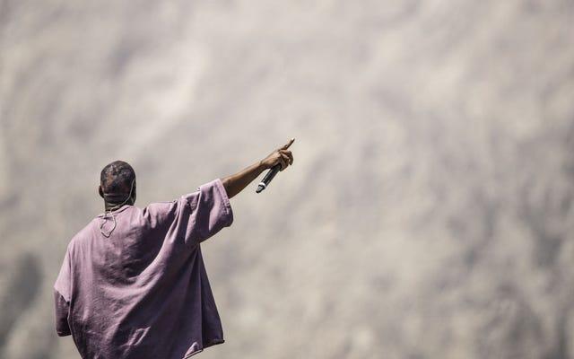 कान्ये केवल अब सुसमाचार बनाना चाहते हैं। लेकिन वह अपने सर्वश्रेष्ठ पर है जब वह धर्मनिरपेक्ष और पवित्र का सम्मिश्रण कर रहा है