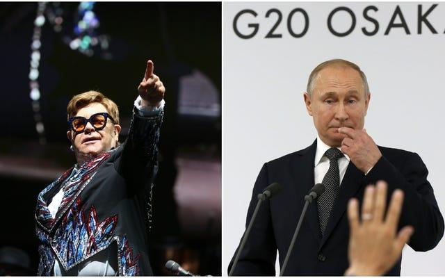 エルトン・ジョンは、LGBTQ +の人々と「問題がない」というウラジーミル・プーチンの主張にいくつかの問題を抱えています
