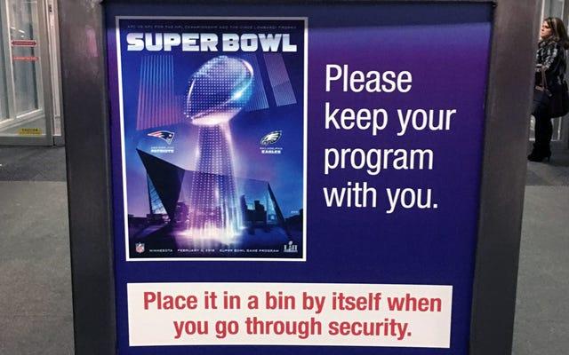 Службе безопасности аэропорта нужно будет отдельно проверить вашу программу Суперкубка
