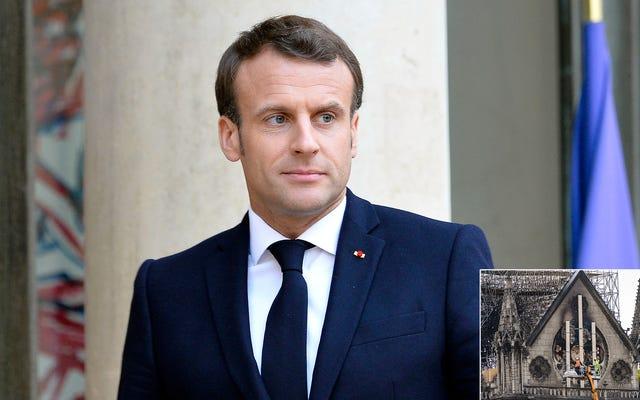 Emmanuel Macron ไม่แน่ใจว่าจะบอกเศรษฐี Notre Dame ได้อย่างไรมีค่าใช้จ่ายเพียง 200 เหรียญเท่านั้น