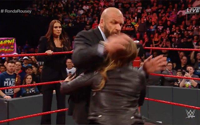 रोंडा राउजी ने अपनी नई नौकरी में पहले दिन अपने बॉस को हराया