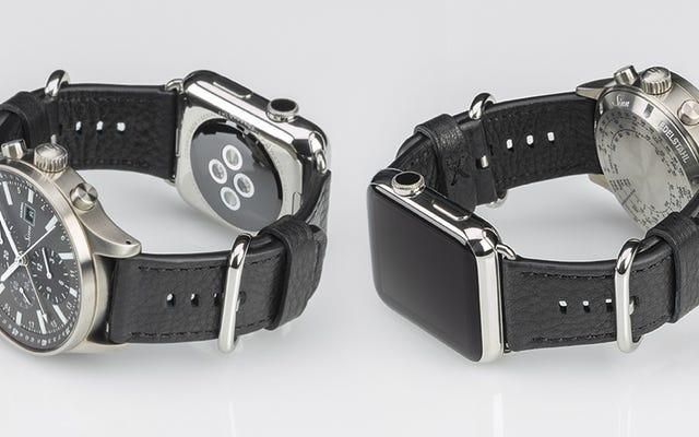 Il cinturino a doppia faccia ti consente di nascondere la vergogna del tuo Apple Watch sotto un orologio più bello