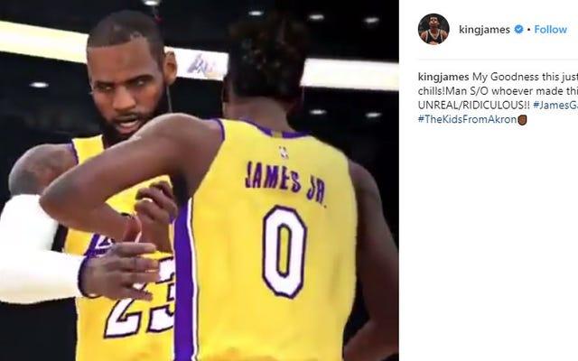 Ngay cả LeBron James cũng ấn tượng với video 2K của người hâm mộ này