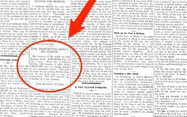 新聞が106年前の今日の問題を予測した並外れた精度