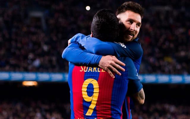 लियोनेल मेस्सी और लुइस सुआरेज़ फ़ुटबॉल में बेहद अच्छे हैं