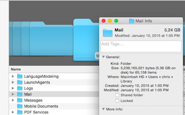Экономьте место в почтовом приложении OS X, отключив загрузку вложений