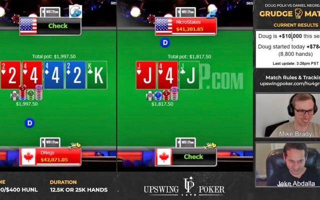 Polk mendinginkan wajah Negreanu lagi dan lagi untuk memimpin $ 957K dalam pertandingan dendam