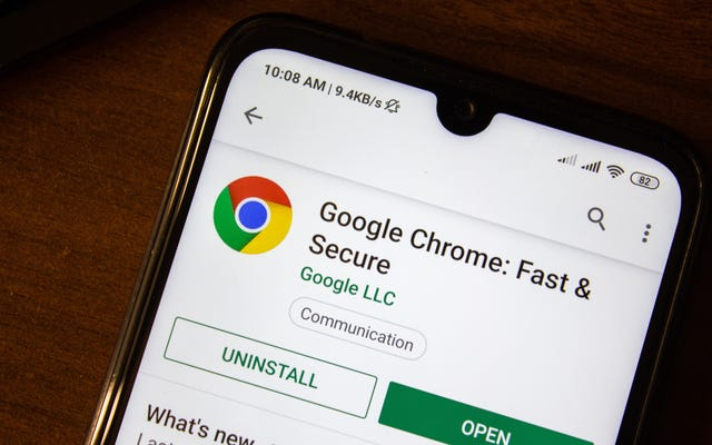 Nút Chuyển tiếp trong Trình duyệt Chrome của Android ở đâu?