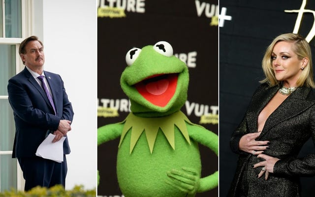 El rumor de Dumb MyPillow / Jane Krakowski arrastra demandas, Kermit The Frog