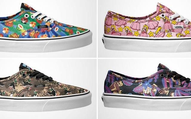 Vansが任天堂と提携しているので、靴のクローゼットに余裕を持たせましょう