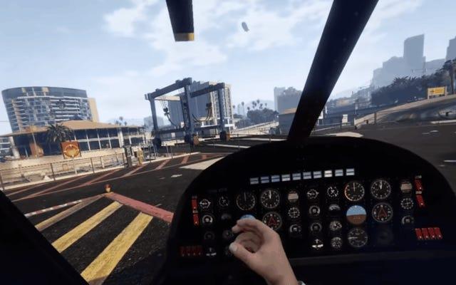 GTA V Modを使用すると、ゲーム全体をバーチャルリアリティでプレイできます