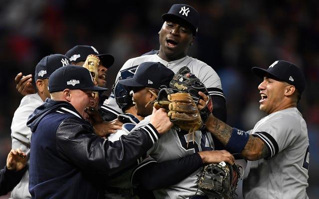 Les Yankees ont terminé le balayage des jumeaux, Barf Barf Barf