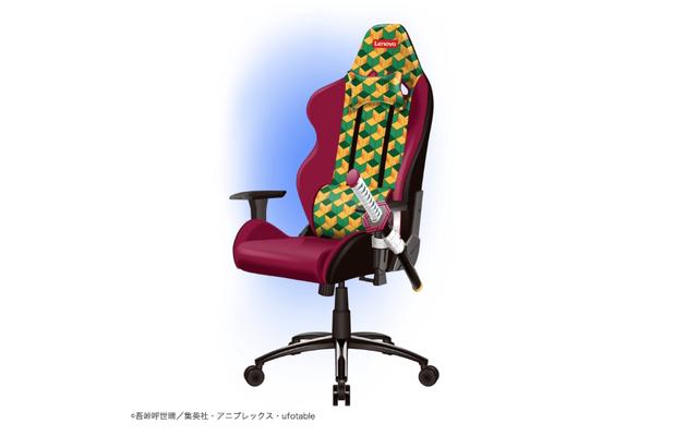 La silla para juegos con temática de anime tiene un soporte para katana