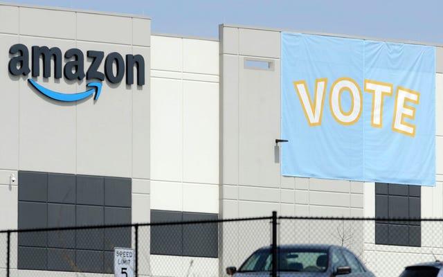 Le décompte des voix d'Amazon Union est en cours